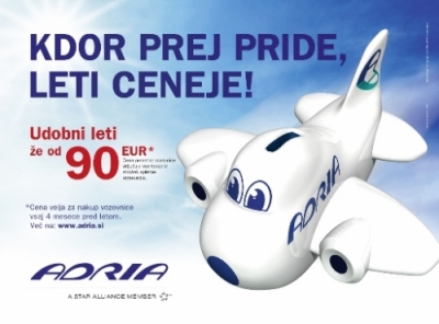 Studio Marketing JWT za Adria Airways